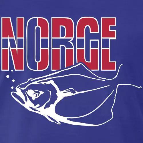 Norwegen Angler T-Shirt Heilbutt «Norge»