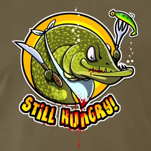 Hecht T-Shirt «Still hungry!»