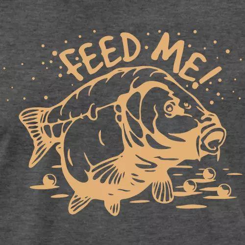 Karpfen T-Shirt «Feed me!»