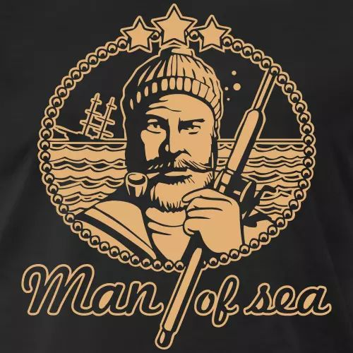 Angler T-Shirt «Man of sea»