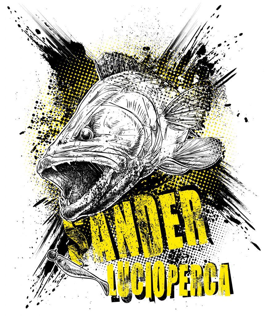 Zander T-Shirt für Angler